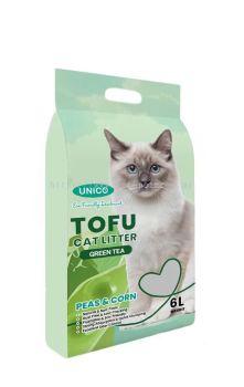 60344 Unico Tofu 6L Cat Litter - Green Tea