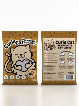 60429 Cutie Cat 10L Cat Litter - Coffee