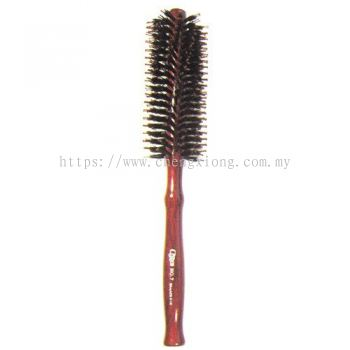 Lisse No.7 Roll Hair Brush with Wood Handle