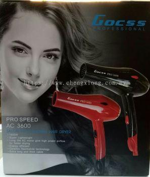 GOCSS PROFESSIONAL PRO3600 DRYER (BLACK/RED)