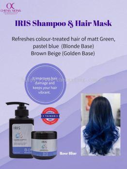 IRIS COLOR ROSE BLUE SHAMPOO&MASK (B01)