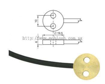 Pt1000TG7/0, temperature probe, cable 1 m