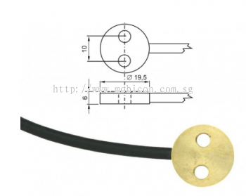 Pt1000TG7/0, temperature probe, cable 2 m