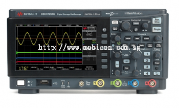 DSOX1204G Oscilloscope: 70/100/200 MHz, 4 Analog Channels