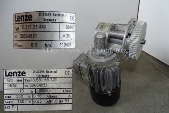 13.531.55.320 1353155320 LENZE Motor with Gearhead Repair Malaysia Singapore Indonesia USA Thailand