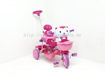Tricycle with handle Hello Kitty