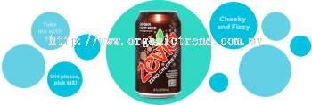ZEVIA-ZERO CALORIES SODA-GINGER ROOTBEER-355ML