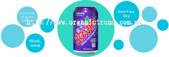 ZEVIA-ZERO CALORIES SODA-GRAPE-355ML