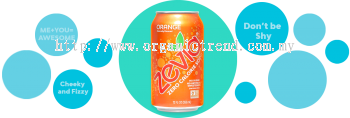 ZEVIA-ZERO CALORIES SODA-ORANGE-355ML
