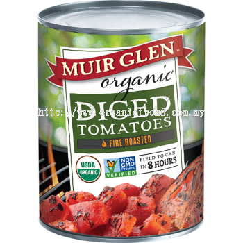 MUIR GLEN-DICED TOMATOES-FIRE ROASTED-793G
