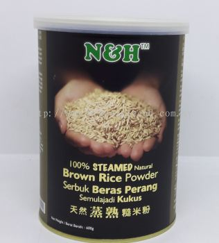 NH-STEAMED BROWN RICE POWDER-600G