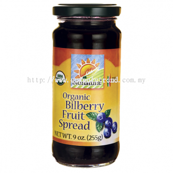 BIONATURAE-BILBERRY FRUIT SPREAD-ORG-255G