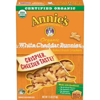 ANNIE'S WHITE CHEDDAR BUNNIES CRACKER-213G