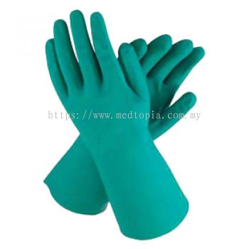 GREEN NITRILE Rubber Gloves (B0902)