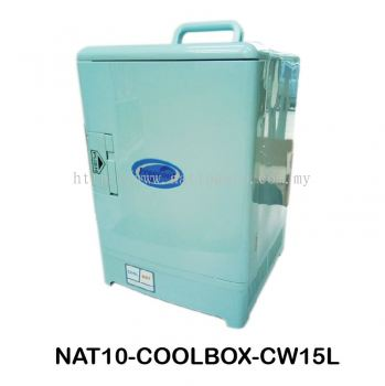 COOLBOX COOLER & WARMER CW-15L Cool Box Dual Voltage Car Refrigerator DC 12V Portable Car Cool and Warm Electric Coolbox for Traveling and Camping Outdoor