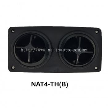 DOUBLE AIRCOND LOUVER (BLACK) BUS WIND OUTLETS SLIDER (BROWN WOOD) Auto interior parts bus wind outlet air vent louver