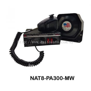 PA Siren Speaker Amplifier 300 for Police Firefighter Ambulance with Mic PA SIREN WITH SPEAKER (12V)