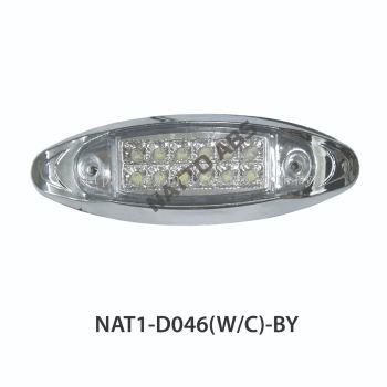 SIDE MARKER LAMP(D046)WHITE-CHROME