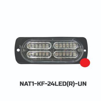 FLASH LIGHT 24LED(12-24V)RED