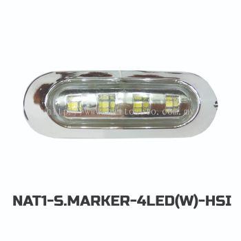 12V/24V Truck Bus LED Side Marker Lamp  (WHITE)  4LED(WHITE)