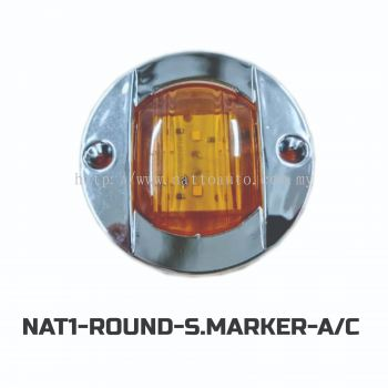 ROUND SIDE MARKER LAMP(CHROME COVER)AMBER