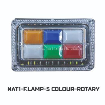 FOG LAMP ROTARY FIVE COLOUR(R-W-B-G-Y)-14