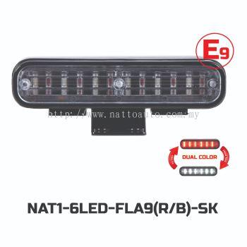 FLASH LIGHT 6LED-FLA9(12V18W)2TONE(R-B)