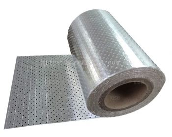 Double Sided Perforated Reflective Aluminium Paper Foil, 8x8 Fiberglass Scrim Reinforced (K731P)