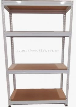 2 IN 1 WHITE BOLTLESS RACK HDF BOARD (4 LEVELS)
