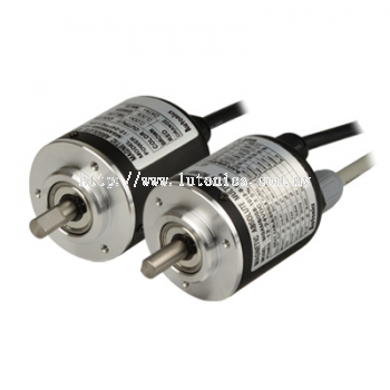 MGAM50S Series - Shaft-Type Ø50 mm Magnetic Absolute Rotary Encoders (Multi-Turn)