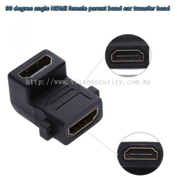 90 degree HDMI Female to female adapter converter converter with screw lock panel for HDMI