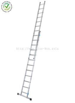 Zarges Extension Ladder 2 x 10 steps Aluminium 4.9m open length