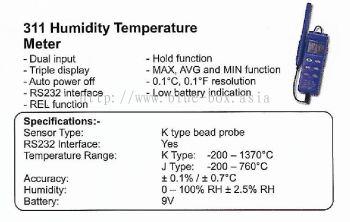 311 Humidity Temperature Meter