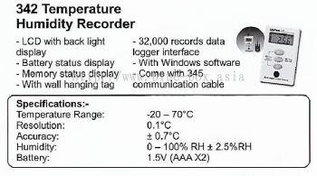 342 Temperature Humidity Recorder