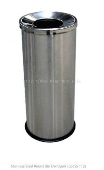 Stainless Steel Round Bin c/w Open Top (SS 112)