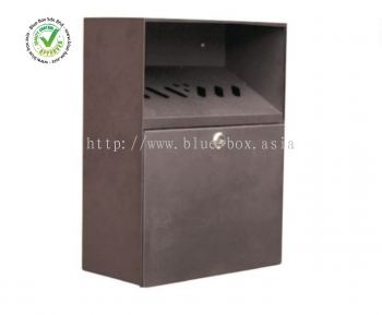 Black Wall Mounting Outdoor Ashtray, 140mm x 373mm x 280mm  287-232