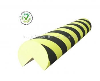 Black, Yellow Corner Protector, 1m by 150mm  840-0590