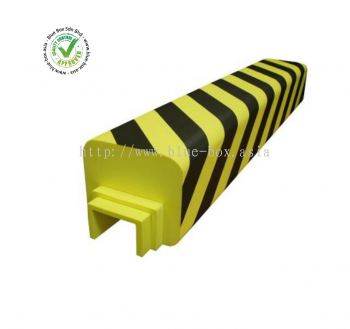 Black, Yellow Racking Protection, 180mm by 160mm  122-3112