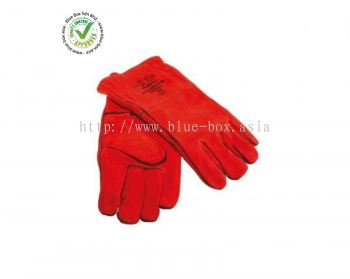 Red Leather Welding Gloves L  622-7071