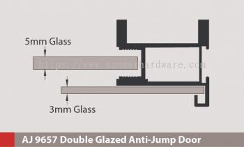 AJ 9657 Double Glazed Anti Jump Door