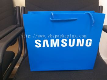 "samsung blue 200gsm 2 side with 12"" polyester string"
