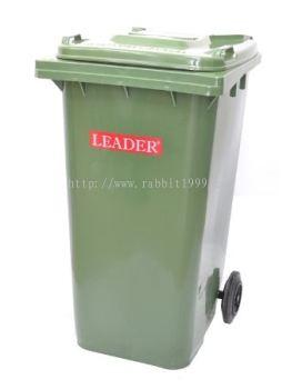 LEADER MOBILE GARBAGE BIN - 120 Litres
