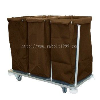 STAINLESS STEEL COLLECTION & SORTING OF SOILED LINEN TROLLEY - CSL-501/SS