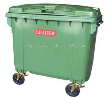 LEADER MOBILE GARBAGE BIN - 660 Litres