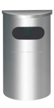 STAINLESS STEEL SEMI ROUND FLAT TOP BIN - SRB-039/F