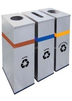 STAINLESS STEEL RECTANGULAR RECYCLE BIN - RECYCLE-133/SS