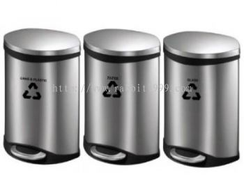 STAINLESS STEEL FOOT PEDAL RECYCLE BIN - RECYCLE-230/SS , RECYCLE-231/SS , RECYCLE-232/SS