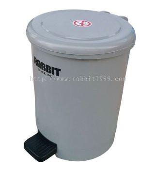 RABBIT ROUND PEDAL BIN - 10 Litres - RPB-10L
