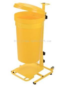 CLINICAL WASTE BIN c/w powder coating pedal & trolley - 45lt