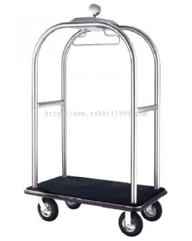 STAINLESS STEEL BIRDCAGE STYLING CART - hairline finish